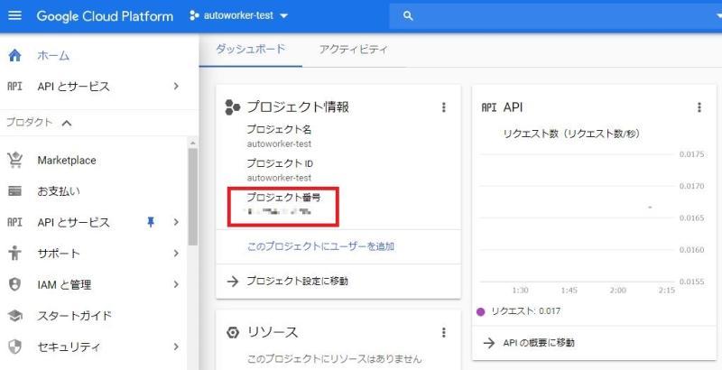 Google Apps ScriptでCloud Text-to Speechを使うための事前設定②GCPコンソールのホーム画面からプロジェクトIDをコピー