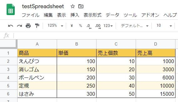 Google Apps Script(GAS)のsetValuesメソッドで複数セルに2次元配列の値を書き込む