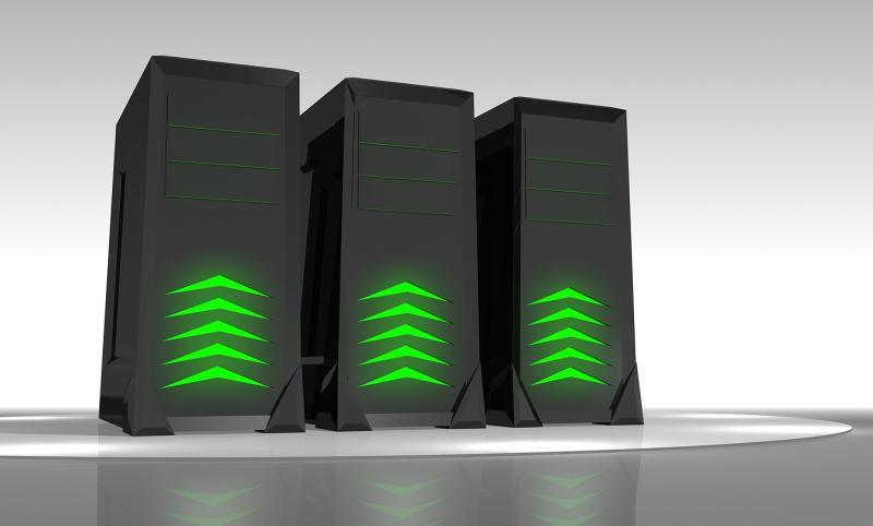 タワー型のサーバーのイメージイラスト