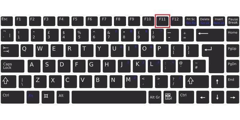 Teams会議ウィンドウの全画面表示はキーボードのF11がショートカットキーになっている