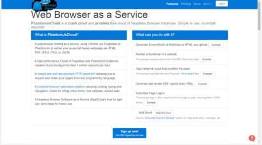 PhantomJsCloudはAPIによる動的なWebページのレンダリング結果を取得できるサービス