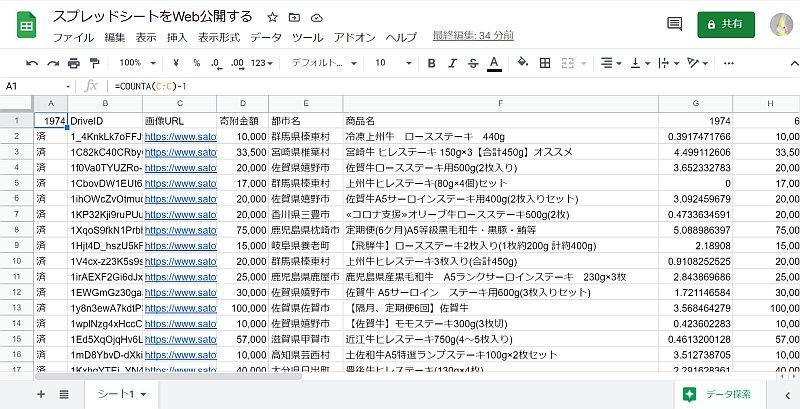 Googleスプレッドシートは、リンク共有や権限付与以外に、WebページやPDFなどでWeb公開することが可能