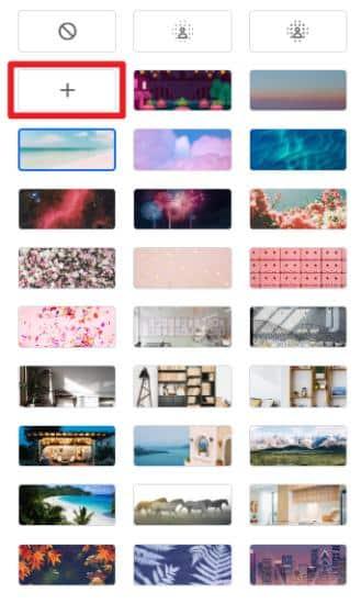 Google Meetの背景設定で、ローカルの画像を仮想背景画像としてアップデート+設定