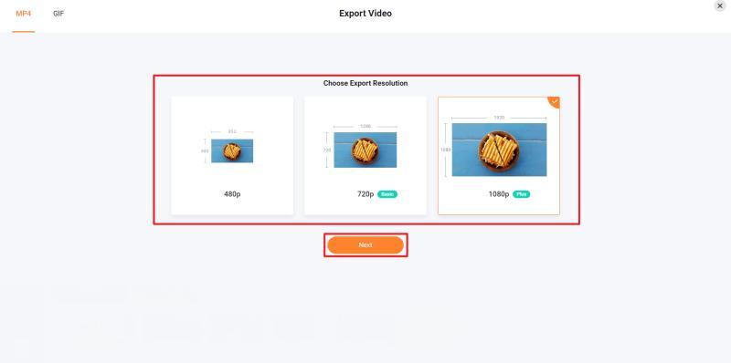 FlexClipでの動画編集が完了したら、画質を選択して動画ファイルを生成し、ダウンロードできるように